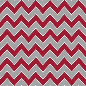 Chevron alabama colors crimson white and grey fabric pattern