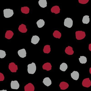 Dots polka dots alabama colors crimson white and grey fabric pattern