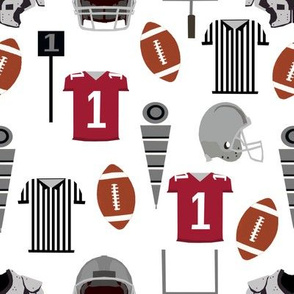 Football college sports fan fabric pattern