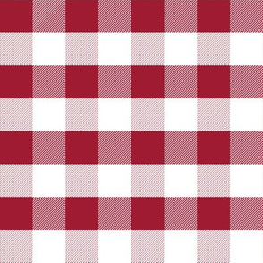 gingham crimson and white minimalist pattern print fabric
