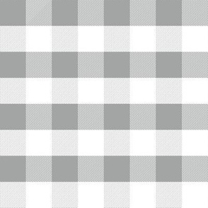 gingham grey and white minimalist pattern print fabric
