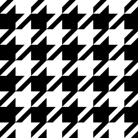 houndstooth black and white minimalist pattern print fabric  fabric by charlottewinter on Spoonflower - custom fabric