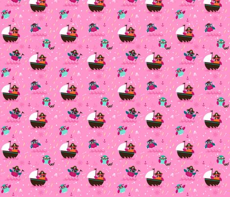 Räuberkinder`s Owl_pink fabric by räuberkinder on Spoonflower - custom fabric