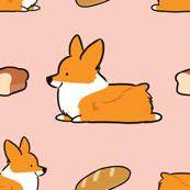 Corgi Bread Loaf Sploot Pink