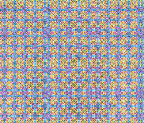 Round Gingham blue fabric by salsus on Spoonflower - custom fabric