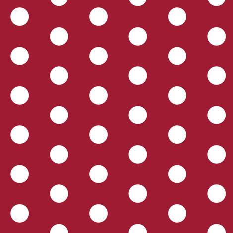 Simple dot crimson and white minimalist pattern print fabric fabric by charlottewinter on Spoonflower - custom fabric