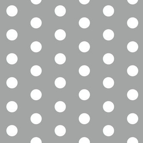 Simple dot grey and white minimalist pattern print fabric