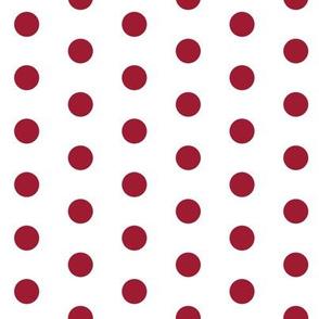 Simple dot crimson and white minimalist pattern print fabric