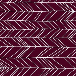 Featherland Burgundy/White rotated