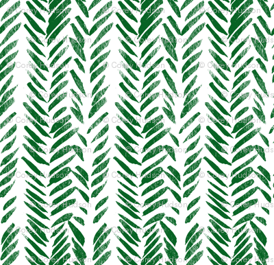 Green Brush Stroke Aztec Boho-ch