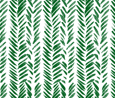 Green Brush Stroke Aztec Boho-ch fabric by hudsondesigncompany on Spoonflower - custom fabric