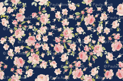 Saint Colette June Roses atlantic navy