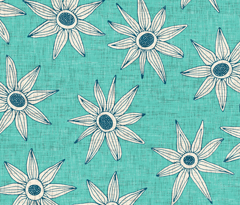 sema mint blue large fabric by scrummy on Spoonflower - custom fabric