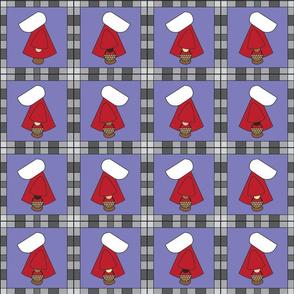 Red White Bonnet Girl Quilt