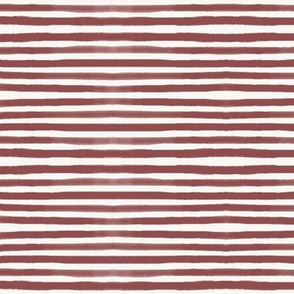 Watercolor stripes - hand drawn stripes berry