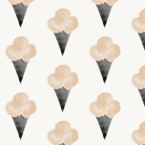 Watercolor ice-cream - ice-cream cone peach kids summer fun