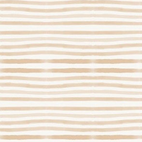 watercolor stripes - hand drawn stripes, peach stripes, pin stripes