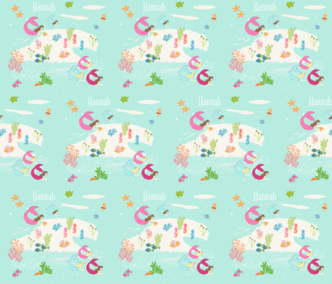 mermaid lagoon 7-PERSONALIZED Hannah fabric by drapestudio on Spoonflower - custom fabric