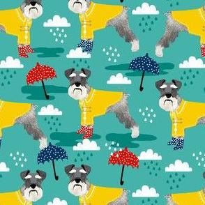schnauzer raincoat dog fabric pattern spring jade