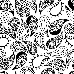 Paisley - Black and White