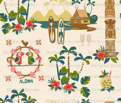 Mid Century Tiki Resort