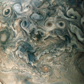 Jupiter Swirls / Atmospheric clouds, View from outer space solar system and planets