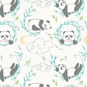 sleepy pandas light colors