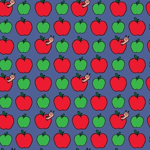 Apples and Worm Blue