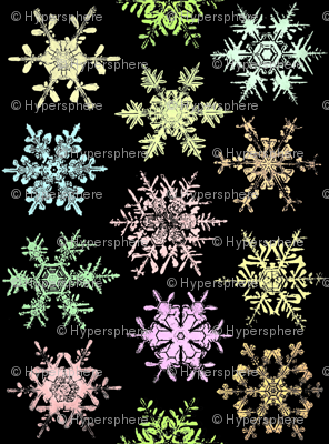 colored snow crystals