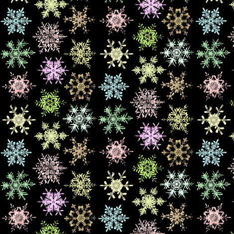 colored snow crystals fabric by hypersphere on Spoonflower - custom fabric