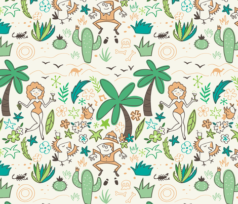 Oasis fiesta fabric by natalia_gonzalez on Spoonflower - custom fabric