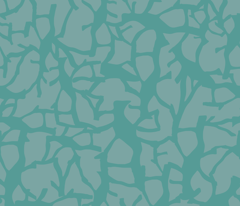 Migration_Teal_on_litgeTeal-01 fabric by donaleekennedy on Spoonflower - custom fabric