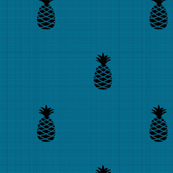 Retro Blue Pineapples