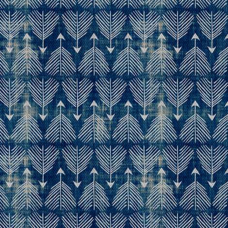 Django Arrows (indigo) SMALL fabric by nouveau_bohemian on Spoonflower - custom fabric