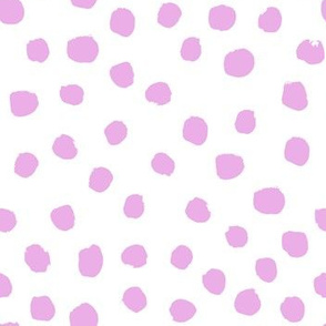 purple dots fabric