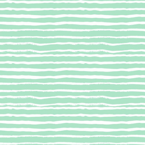 mint stripes fabric
