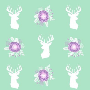 deer and florals fabric