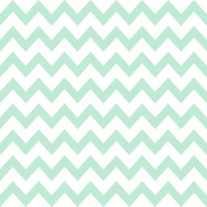 mint chevron fabric