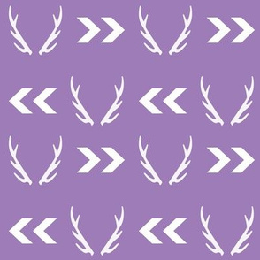 purple antler fabric