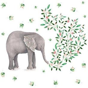 "8"" Floral Elephant / Summer 2017"