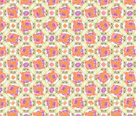 ZinniaBouquetSm fabric by blairfully_made on Spoonflower - custom fabric