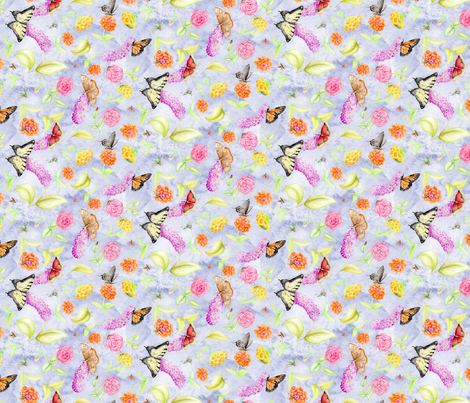 WatercolorInsectsSm fabric by blairfully_made on Spoonflower - custom fabric
