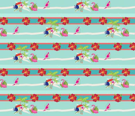 tropical stripes 95- lagoon fabric by drapestudio on Spoonflower - custom fabric