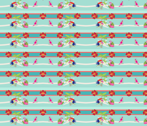 tropical stripes M2454- lagoon fabric by drapestudio on Spoonflower - custom fabric