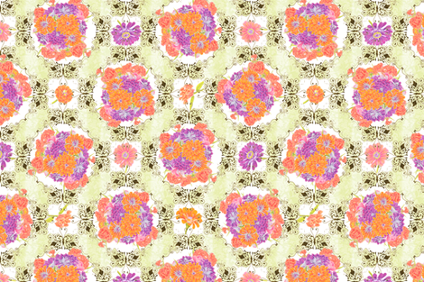 ZinniaBouquet fabric by blairfully_made on Spoonflower - custom fabric