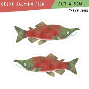 Cut & Sew - Sockeye Salmon Fish