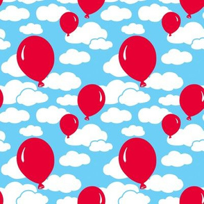 Clouds and Red Balloons