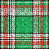 Distressed green + red Stewart plaid by Su_G