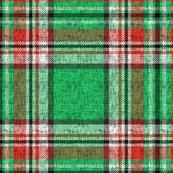 Distressed green + red Stewart plaid by Su_G