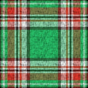 Distressed green + red (MATCHING) Stewart plaid by Su_G